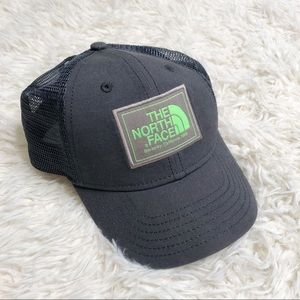 The north face gray green trucker SnapBack Hat